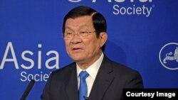 Chủ tịch Việt Nam Trương Tấn Sang phát biểu tại Hội Á châu hôm 28/9.