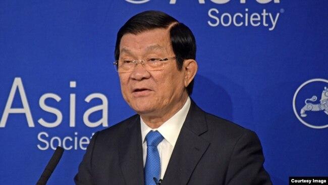 Chủ tịch Việt Nam Trương Tấn Sang năm 2015 từng đáp trả tuyên bố của Chủ tịch Tập Cận Bình khi tới Mỹ.