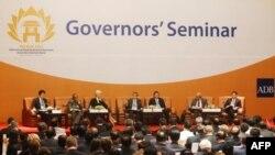 Chủ tịch ADB Kuroda phát biểu tại cuộc họp thường niên của ADB tại Hà Nội, 04/05/2011