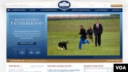 Página principal de la Casa Blanca