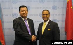 罗伦佐访问中国(联合国照片)
