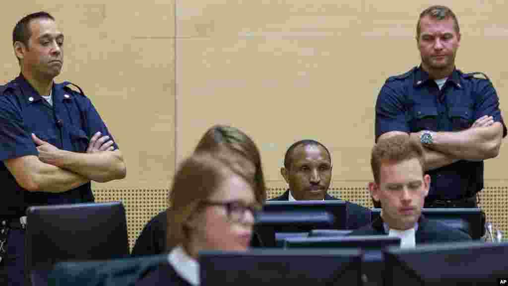 Bosco Ntaganda devant la Cour pénale internationale de justice, à La Haye, le 2 septembre 2015.