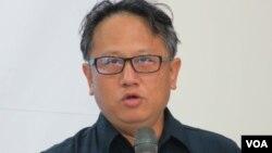 台湾西海岸保育联盟秘书长 蔡嘉阳(美国之音张永泰拍摄)