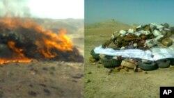 مواد مخدر کشف شده در ننگرهار به آتش کشیده شد