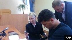Юлія Тимошенко під час слухань у суді