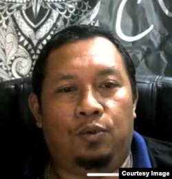 Anggota satuan tugas antiteror Polri, Didik Novi Rahmanto, Rabu 12 Agustus 2020. (Tangkapan layar)