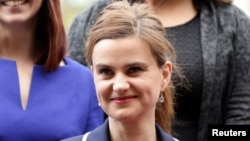 FILE - Batley and Spen MP Jo Cox is seen in Westminster May 12, 2015.