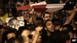 Egyptian youth return to Tahrir square to protest the outcome of presidential elections.