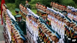 越南仪仗队在河内准备迎接外宾