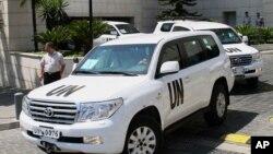 聯合國化武專家8月30日抵達敘利亞首都大馬士革。(資料照片)