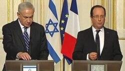 مذاکرات رهبران فرانسه و اسرائيل