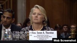 FILE - Susan Thornton, acting assistant secretary of state for East Asian and Pacific Affairs