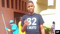 Gaspar Luamba, uma das vítimas do ataque a casa onde se reune o movimento estudantil revolucionário (Luanda, Maio 2012)