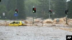布里斯班受洪災影響變成澤國。