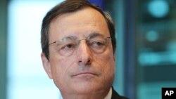 유럽중앙은행 마리오 드라기 총재. (자료사진)