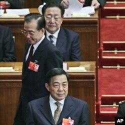 2012年3月温家宝和薄熙来在北京两会的会场上