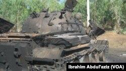Un réservoir appartenant à Boko Haram est détruit à Mararrabar Mubi dans l'Etat d'Adamawa par les troupes nigérianes avec l'aide des chasseurs locaux et les groupes d'autodéfense civile.