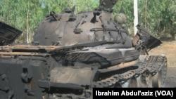 Wata Tankar Yaki ta 'Yan Boko Haram da Aka Kona.