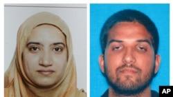 Saldırıyı düzenledikten sonra polis tarafından ölü ele geçirilen Teşfin Malik (solda) ve Syed Faruk