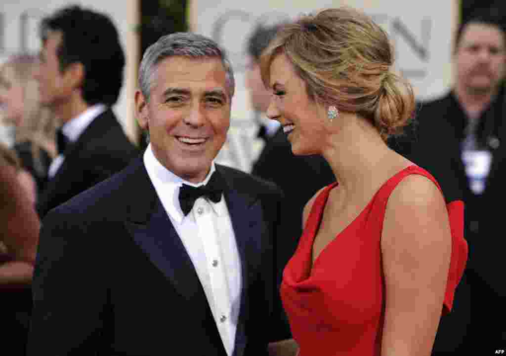 Джордж Клуни и Стейси Кейблер