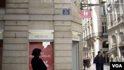 Karfa Diallo once wanted to change the names of streets in Bordeaux, France, that were named after slave traders, like this one. But now he supports installing simple explanatory plaques. (L. Bryant/VOA)