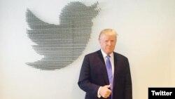 Presiden AS Donald Trump terus melanjutkan kampanyenya di Twitter (foto: dok).