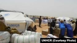 Des réfugiés maliens
