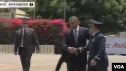 奧巴馬總統星期二離開亞洲之行的最後一站菲律賓