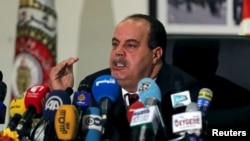 Tunisia's Interior Minister Najem Gharsalli speaks during a news conference in Tunis, March 26, 2015.