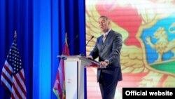 Crnogorski premijer Milo Đukanović govori na To Be Secure Forumu u Budvi