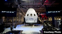 FILE - The Dragon spacecraft is seen in this photo provided by SpaceX.