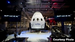 Dragon V2 spacecraft, undated file photo provided by SpaceX.