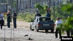지난 5월 러시아 다게스탄에서 발생한 이슬람 급진세력의 폭탄 테러 현장. (자료사진)