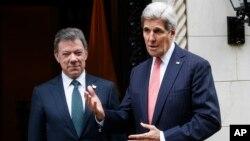 """Kerry reconoció que Colombia deberá tomar """"decisiones difíciles"""" tras el triunfo del """"no"""" en el plebiscito del domingo."""