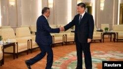 Ông Tedros Adhanom, Tổng giám đốc Tổ chức Y tế Thế giới gặp Chủ tịch Trung Quốc Tập Cận Bình ở Bắc Kinh hôm 28/1.