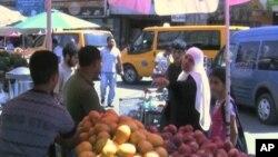 Market scene in Ramallah