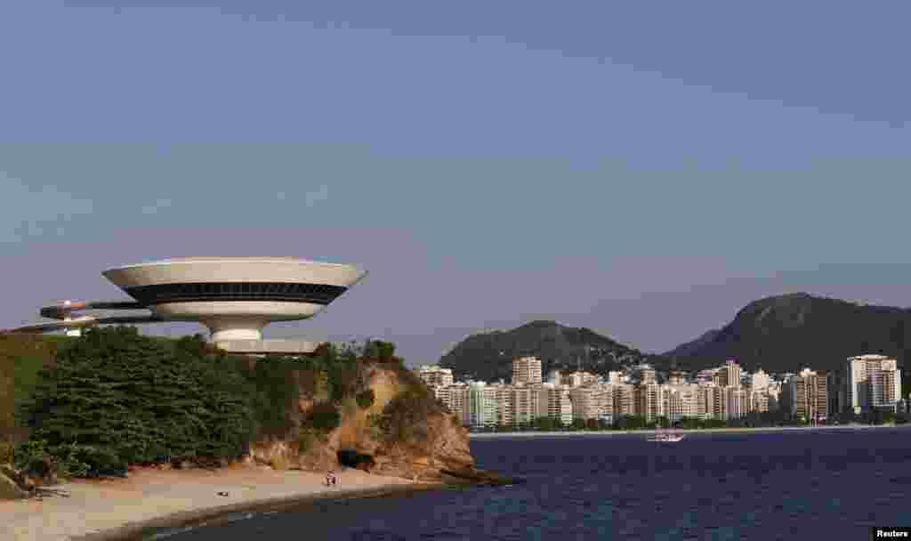 브라질 리우데자네이루의 현대미술관.