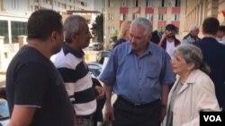 Rafiq və Firəngiz Hüseynovlar oğulları Mehman Hüseynovun məhkəməsindən sonra - 31.07.2018