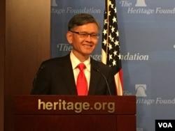 台湾驻美副代表李光章 (美国之音钟辰芳拍摄)