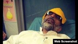 مهدی خزعلی، فعال سیاسی منتقد سیاستهای آیتالله علی خامنهای در بیمارستان - برگرفته از صفحه فیسبوک آقای خزعلی