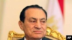 ອະດີດປະທານາທິບໍດີ Hosni Mubarak ແຫ່ງເອຈິບ ວັນທີ 13 ເມສາ 2011