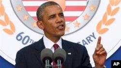 Tổng thống Barack Obama phát biểu tại lễ đánh dấu 60 năm ngày ký kết hiệp ước đình chiến chấm dứt Cuộc chiến tranh Triều Tiên năm 1953, ngày 27/7/2013.