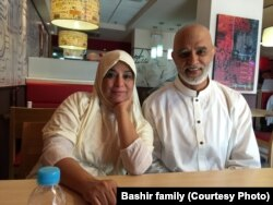 Amina and Imran Bashir are photographed during their Hajj pilgrimage in 2015.