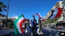 Pristalice Bashar al-Assada na ulicama Damaska