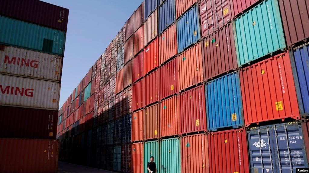 2018年4月10日上海港一個集裝箱碼頭(路透社)