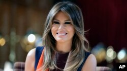 FILE - First lady Melania Trump.