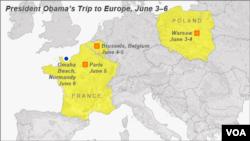 Obama trip to Europe, June 3-6