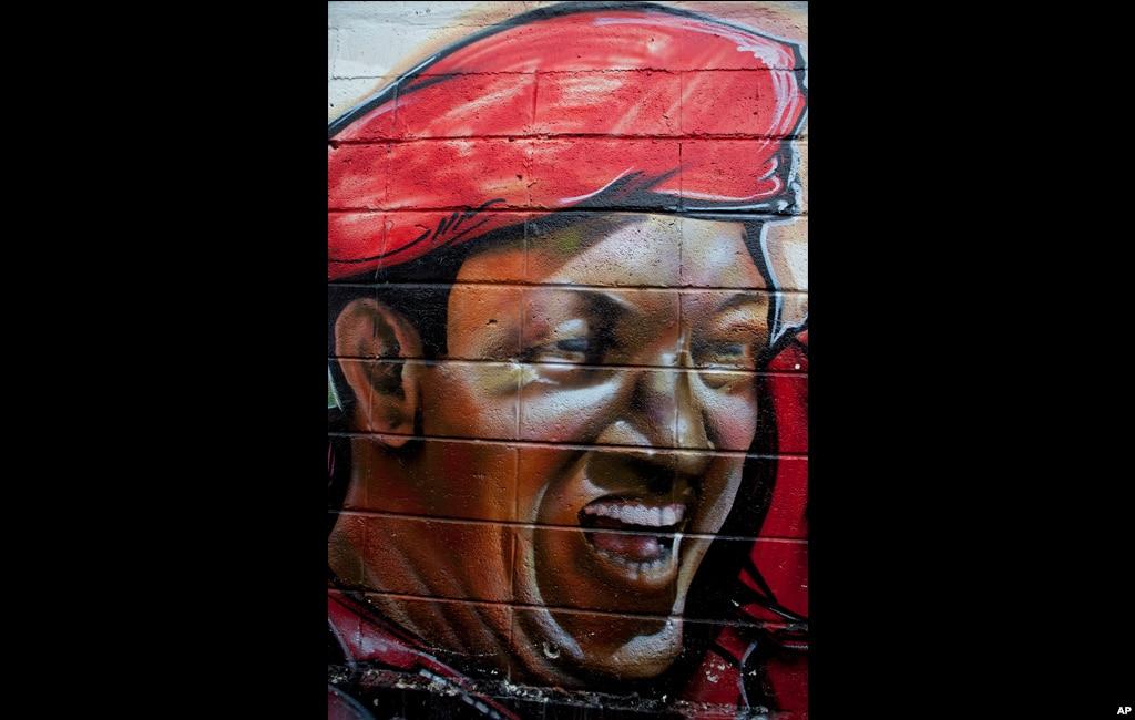 Графіті, яке зображує Чавеса у Каракасі, Венесуела. Березень 2012.