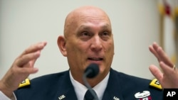 FILE - Army Chief of Staff Gen. Ray Odierno, shown testifying before a House panel in 2013, says caution would be used in placing the Syrian opposition force and assigning its tasks.