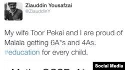 Ziauddin Yousafzai on Malala result